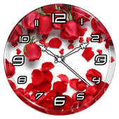 Rose Petals Clock Live WP icon