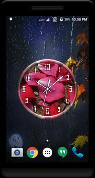 Rose Petals Clock Live WP screenshot 3