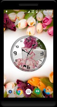 Rose Petals Clock Live WP poster