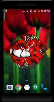 Rose Petals Clock Live WP screenshot 1