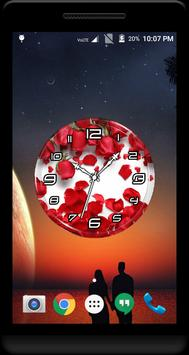 Rose Petals Clock Live WP apk screenshot