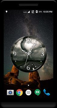 Tornado Clock Live Wallpaper poster