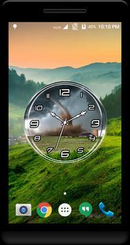 Tornado Clock Live Wallpaper apk screenshot