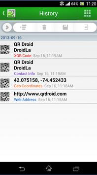 QR Droid Private™ (Español) captura de pantalla de la apk