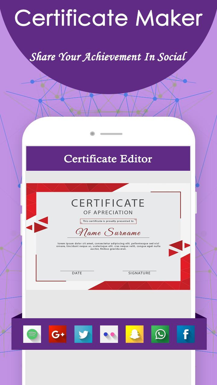 certificate maker certificates