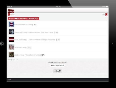 Latvijas video - mūzikas apk screenshot