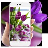 HD Purple Tulip Wallpaper icon