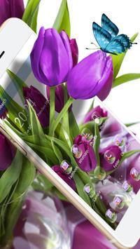 HD Purple Tulip Wallpaper poster
