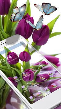 HD Purple Tulip Wallpaper screenshot 1