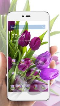 HD Purple Tulip Wallpaper screenshot 2