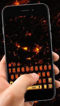 lava hot magma keyboard flame melting rock poster