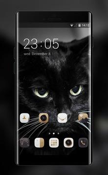 Theme for Lava A11 Black Cat Wallpaper poster