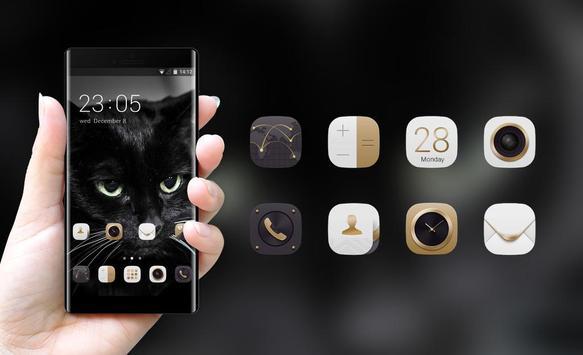 Theme for Lava A11 Black Cat Wallpaper apk screenshot