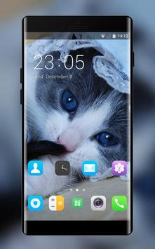 Theme for Lava Discover 128 Cute Cat Wallpaper poster