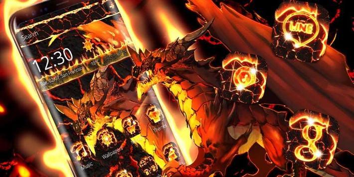 Fire Dragon Lava Theme apk screenshot