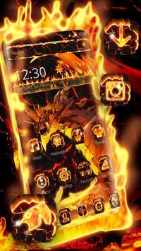 Fire Dragon Lava Theme poster