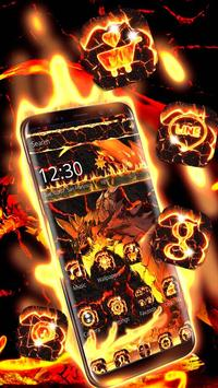 Fire Dragon Lava Theme screenshot 2