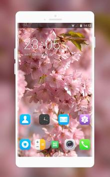 Theme for Lava Iris 250 Pink Wallpaper poster