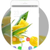 Theme for Lava Iris 404e Tulips Wallpaper icon