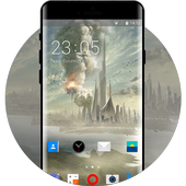 Theme for Lava Iris 401 Sci-Fi Fantasy Wallpaper icon