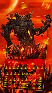 Lava Monster Keyboard Theme poster