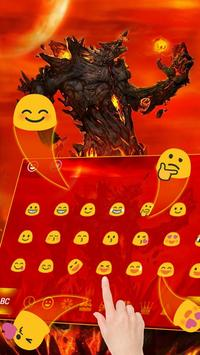 Lava Monster Keyboard Theme apk screenshot