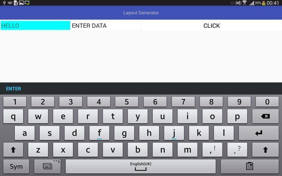 LayoutGenerator apk screenshot