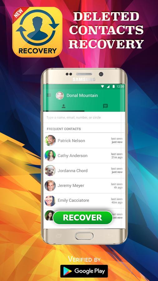 Gelöschte Kontakte wiederherstellen für Android - APK herunterladen
