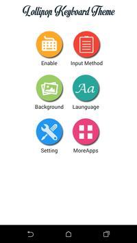 Lollipop Keyboard Theme apk screenshot