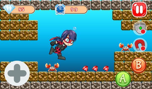 Adventure Ladybug Ninja World apk screenshot