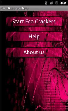 Diwali eco crackers poster