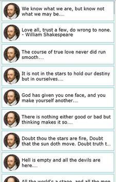101 Great Saying by Shakespear screenshot 14