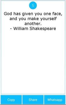 101 Great Saying by Shakespear screenshot 1