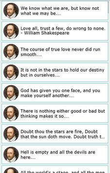101 Great Saying by Shakespear screenshot 4