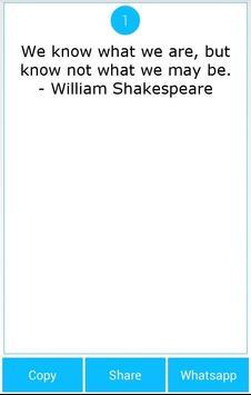 101 Great Saying by Shakespear screenshot 8