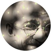 Mahatma Gandhi Fireflies LWP أيقونة