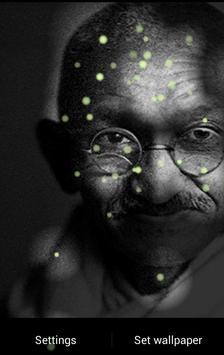 Mahatma Gandhi Fireflies LWP Poster