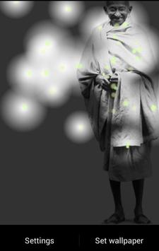 Mahatma Gandhi Fireflies LWP screenshot 1
