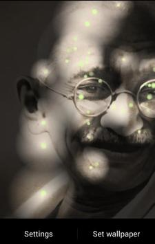 Mahatma Gandhi Fireflies LWP screenshot 2