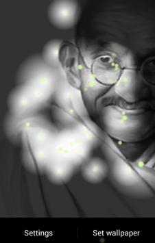 Mahatma Gandhi Fireflies LWP screenshot 4