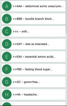 Complete Medical Abbreviations screenshot 11