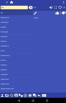German Sesotho dictionary screenshot 11