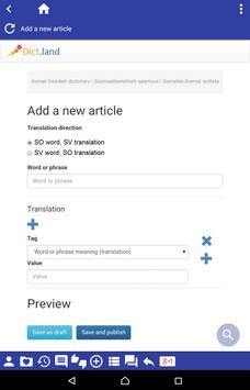 Somali Swedish dictionary apk screenshot