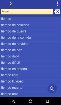 Spanish Latin dictionary poster