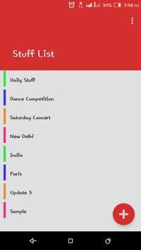 Stuff List screenshot 1