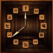 Wooden Analog Clock icon