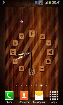 Wooden Analog Clock poster