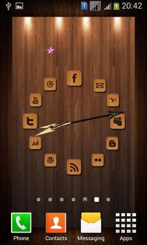 Wooden Analog Clock screenshot 2