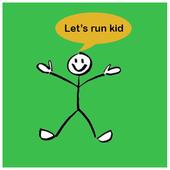 Let's run kid - Fun game 2017 icon
