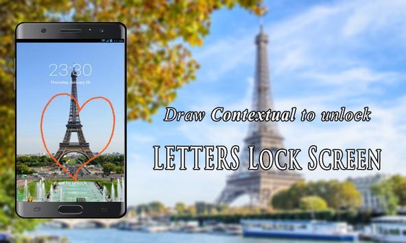 Letters Lock Screen apk screenshot